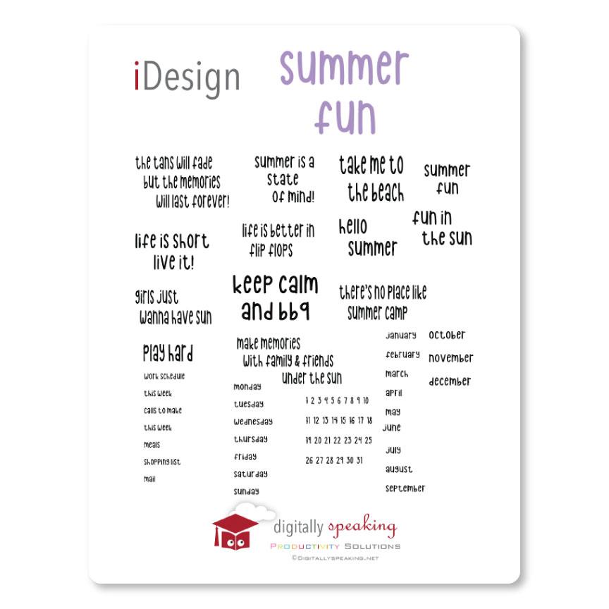 Summer Fun Idesign Keynote Quotes